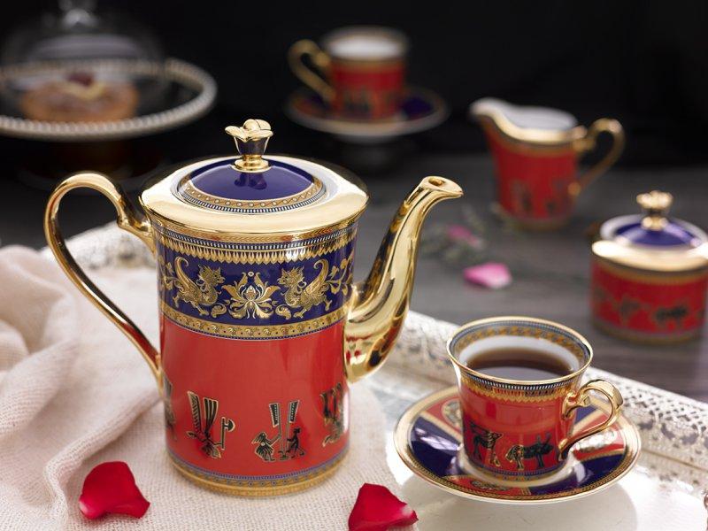 Bộ cà phê Tulip Hoa văn Trống đồng