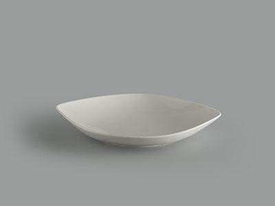 Dĩa oval bầu 37 cm Gourmet trắng ngà