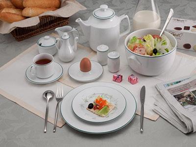 Bộ đồ ăn Jasmine Chỉ xanh lá 22 sản phẩm