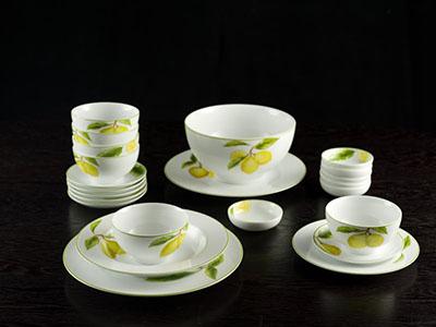 Bộ đồ ăn Camellia quả chanh 23 sản phẩm
