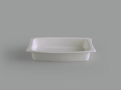 Tô chữ nhật 30 x 20 cm Gourmet trắng ngà