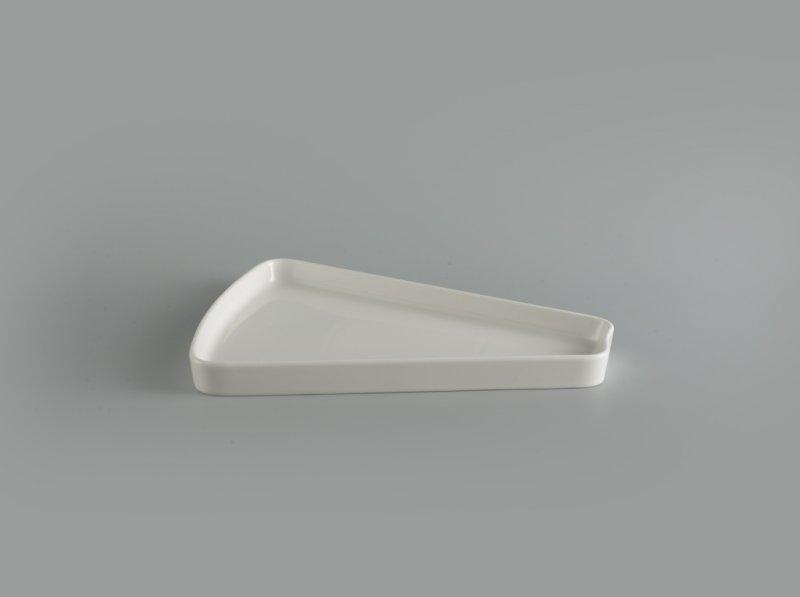 Dĩa cánh quạt 28 cm Gourmet trắng ngà