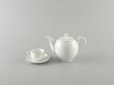 Bộ trà cao cấp viền chỉ vàng 0.8 L