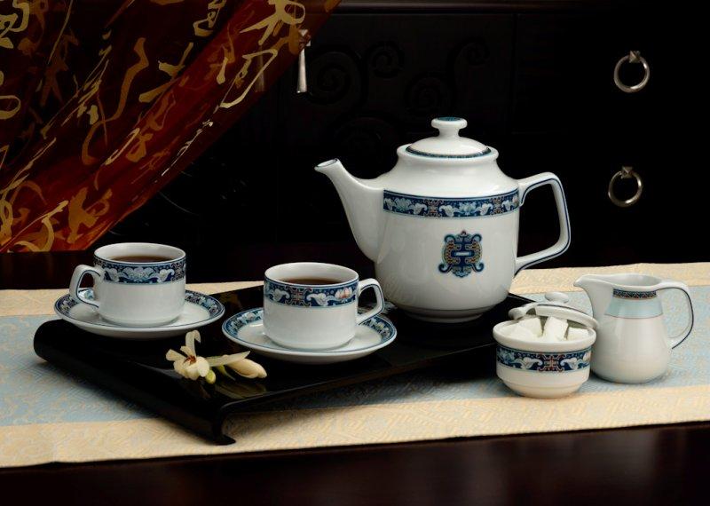 Bộ trà Jasmine Hoa văn Phước Lộc Thọ