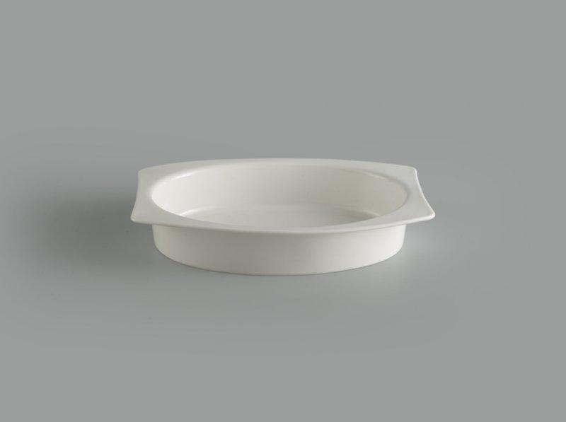 Tô chữ nhật oval lòng 27.5 x 19 cm Gourmet trắng ngà