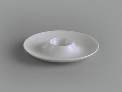 Dĩa trứng 13 cm Jasmine Ly's trắng ngà