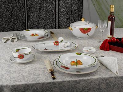 Bộ đồ ăn Camellia Kết duyên 23 sản phẩm