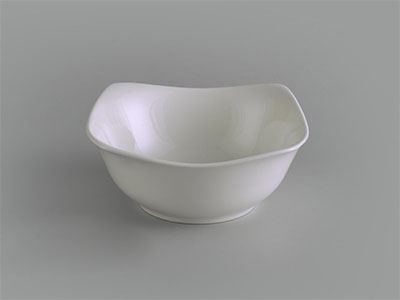 Tô vuông cao 18 cm Jasmine Ly's trắng ngà