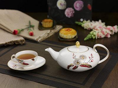 Bộ trà elip Thiên Kim 0.47L