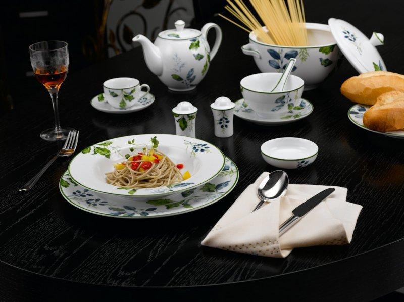 Bộ đồ ăn Camellia lá xanh 23 sản phẩm