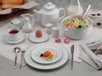 Bộ bàn ăn Chỉ Xanh Lá 35 sản phẩm