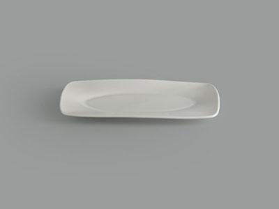 Dĩa chữ nhật oval lòng 27 x 17 cm Gourmet trắng ngà