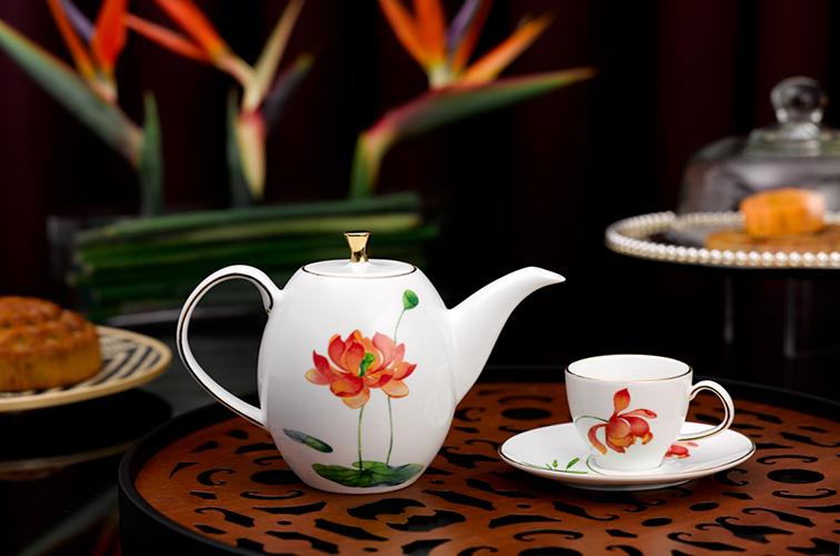 Bộ trà Anna cao Hoa văn Hương Sen