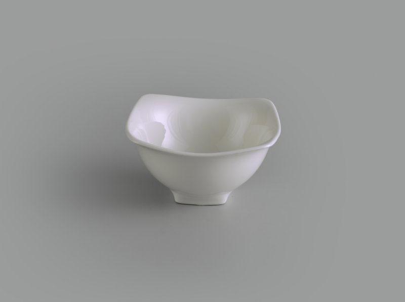 Chén vuông Jasmine Ly's trắng ngà 12 cm