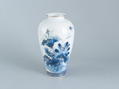 Bình hoa sen vàng 27 x 14.5 cm