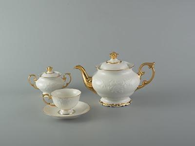 Bộ trà cao cấp Đài Các bắt chỉ vàng 1.3 L
