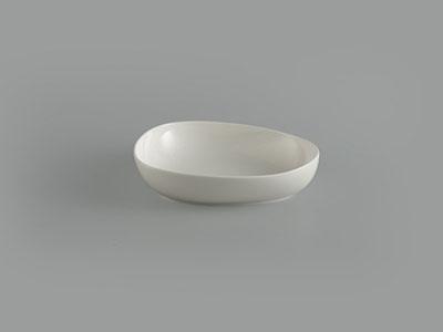 Tô tam giác tròn 21 cm Gourmet trắng ngà