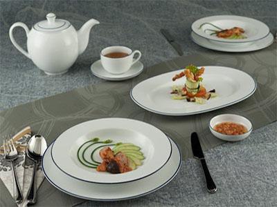Bộ bàn ăn Chỉ Xanh Dương 23 sản phẩm