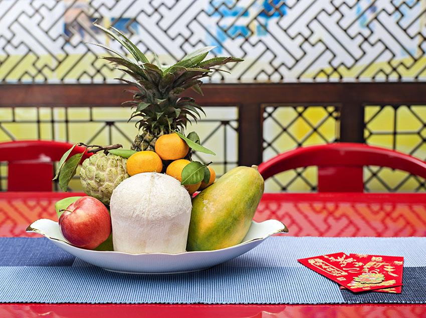 Quà tặng tết dĩa trái cây